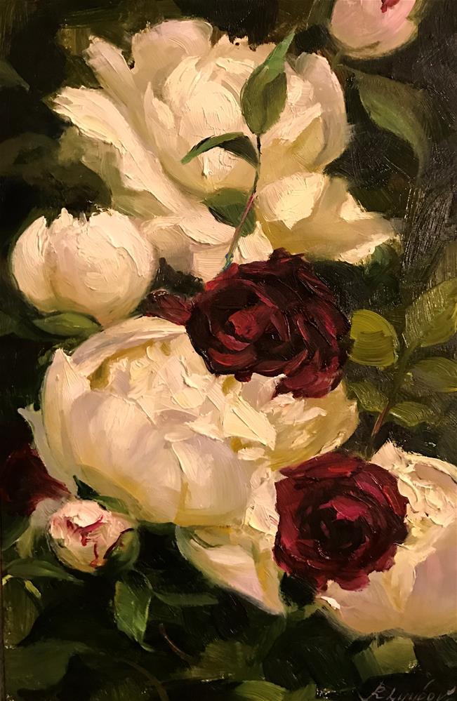 """""""English roses"""" original fine art by Regina Lyubovnaya"""