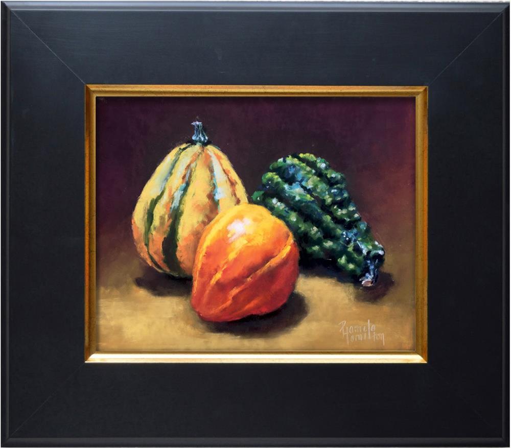"""""""Gourd Trio"""" original fine art by Pamela Hamilton"""