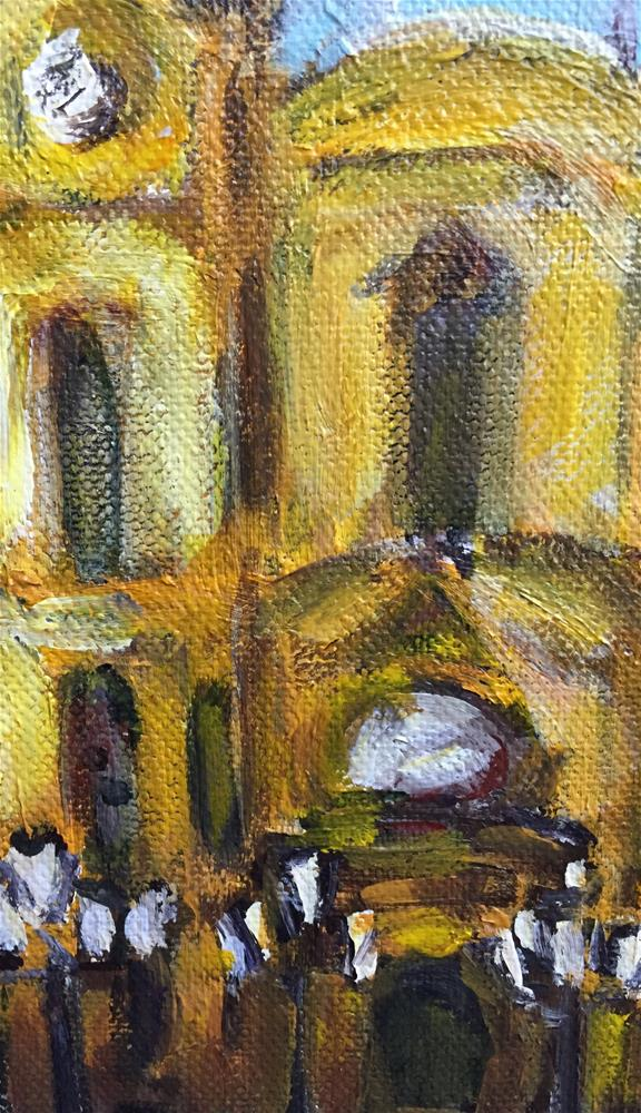 """European Town Square"" original fine art by Alina Vidulescu"