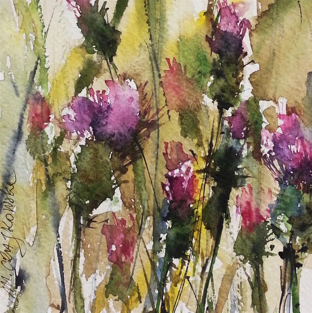 """Thistle"" original fine art by Marlena Czajkowska"