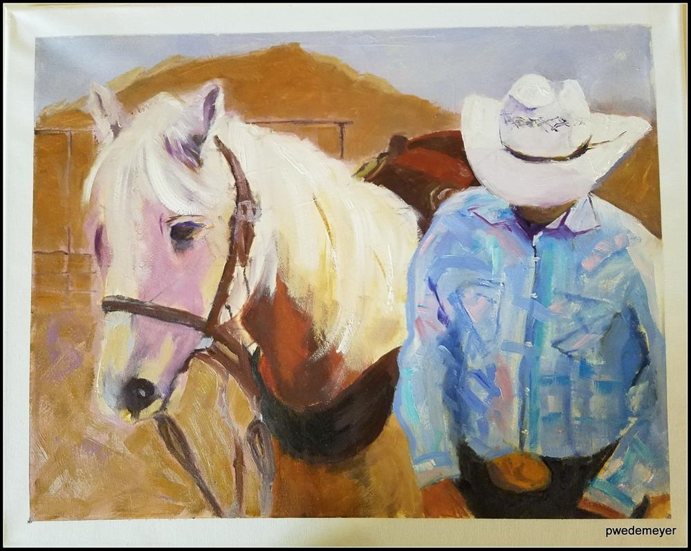 """Take the High Road"" original fine art by Pamela Wedemeyer"