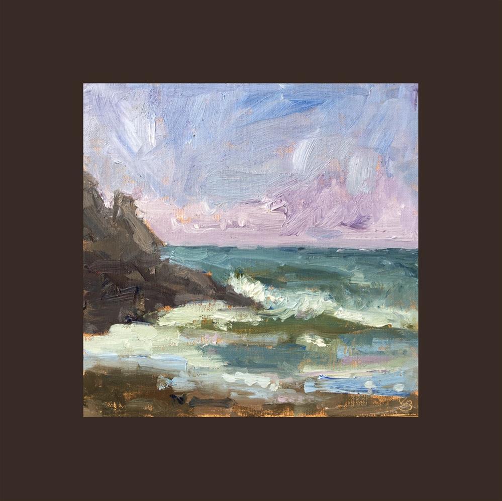"""""""Heceta Beach Waves"""" original fine art by Victoria  Biedron"""