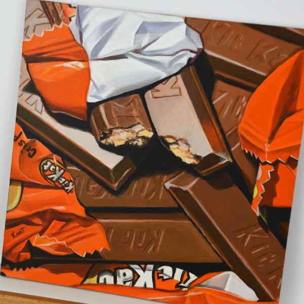 """Kit Kats"" original fine art by Kim Testone"