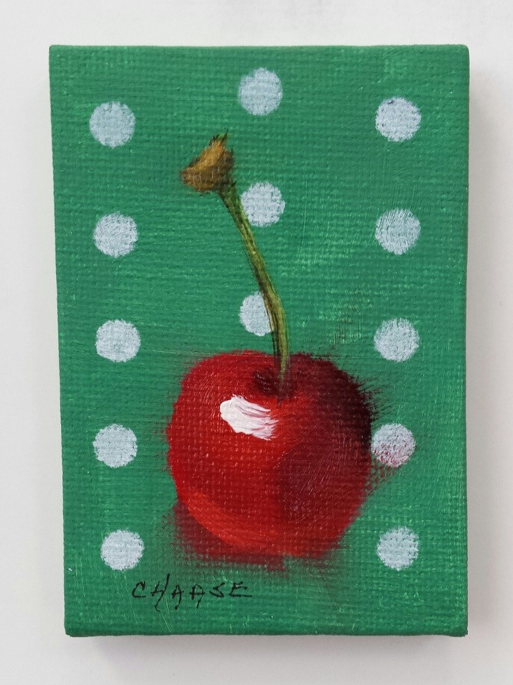 """Polka Cherry 2"" original fine art by Cindy Haase"