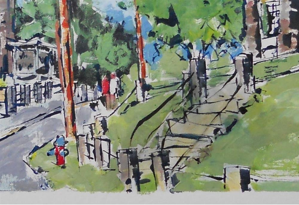"""Stairway To Mason Hall by Larry Lerew 130909"" original fine art by Larry Lerew"