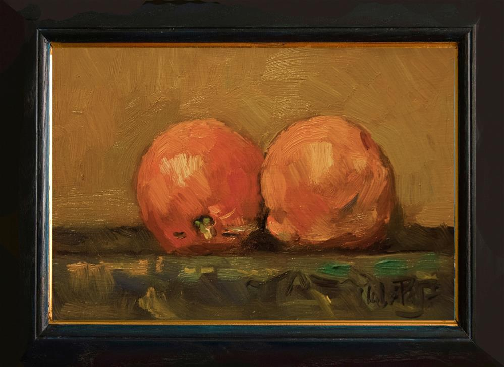 """Two Tangerines"" original fine art by Andre Pallat"