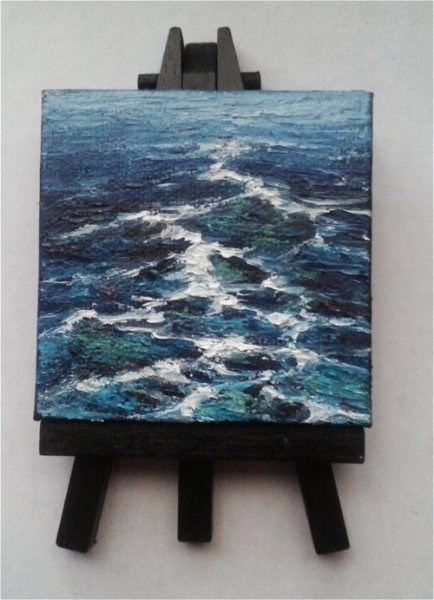 """Sea Waves"" original fine art by Camille Morgan"