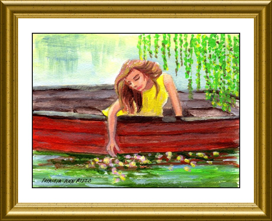 """Relaxing in the Rowboat"" original fine art by Patricia Ann Rizzo"