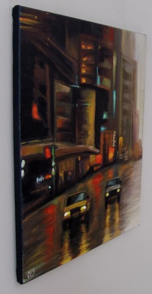 """City Lights"" original fine art by ~ces~ Christine E. S. Code"
