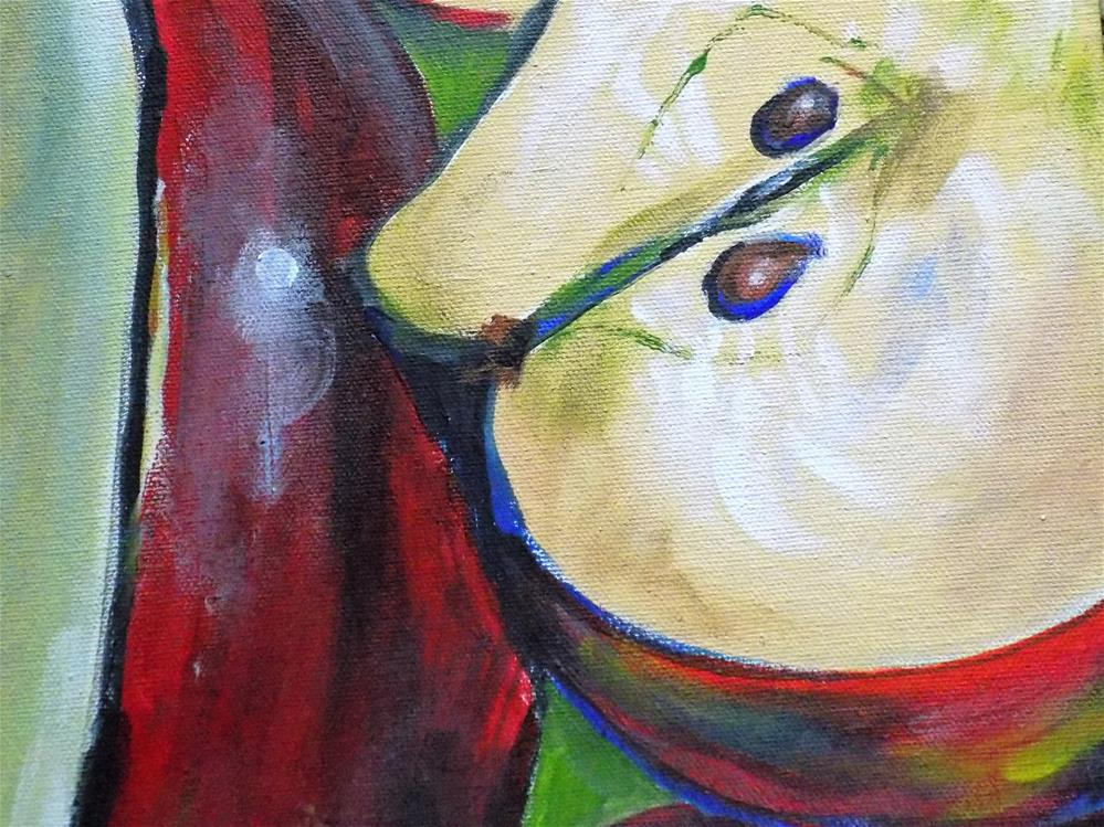 """Apple abstraction"" original fine art by tara stephanos"