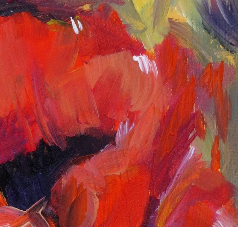 """""""Red Poppies"""" original fine art by Susan  Mackenzie"""