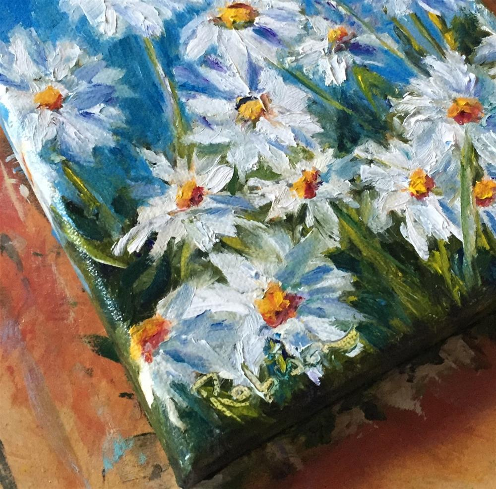 """Patch of Daisies"" original fine art by Renee Robison"