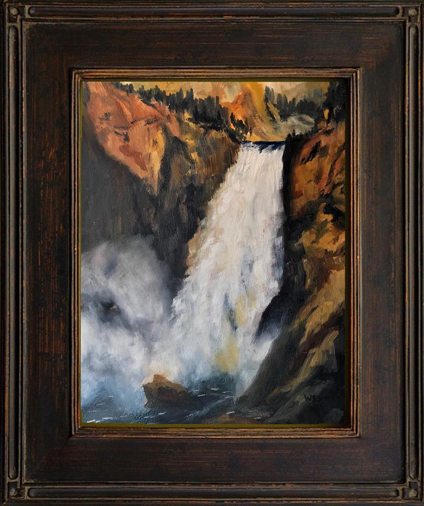 """Great Falls of the Yellowstone"" original fine art by James West"