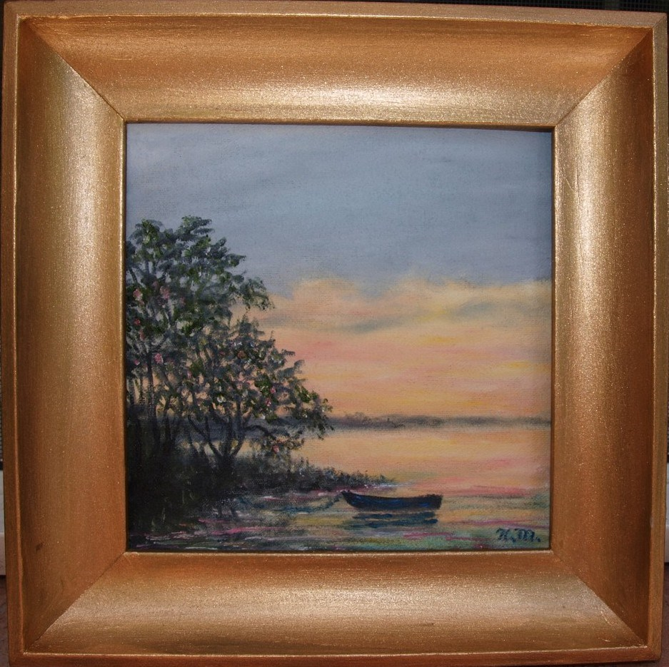 """Ashore at Dusk"" original fine art by Kathleen McDermott"