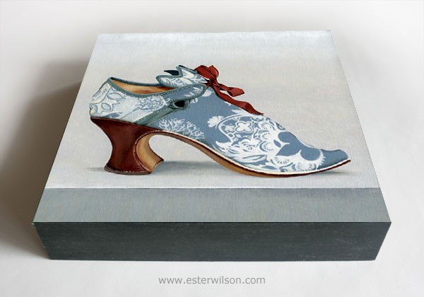 """Rococo Shoe"" original fine art by Ester Wilson"