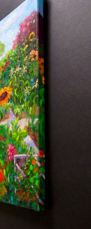 """Late Summer, Community Garden"" original fine art by Patricia Musgrave"