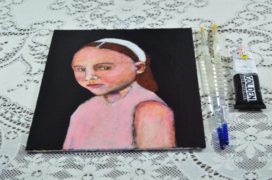 """""""Alice"""" original fine art by Katie Jeanne Wood"""
