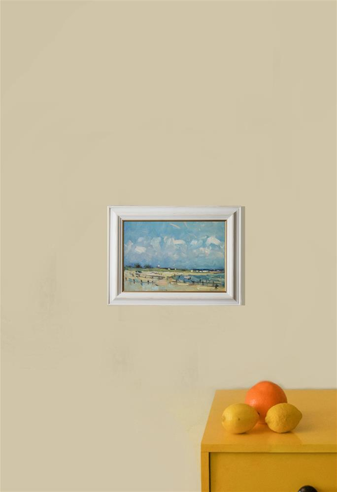 """West Sussex Beach"" original fine art by Andre Pallat"