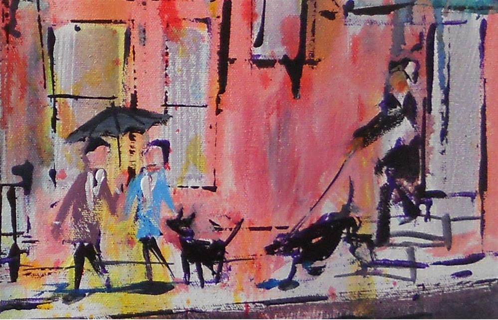 """Rainy Walk by Larry Lerew 121202"" original fine art by Larry Lerew"