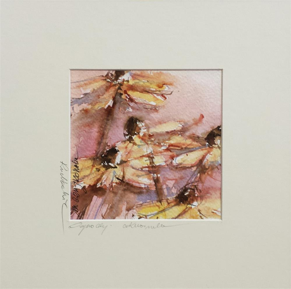 """Rudbeckia 7"" original fine art by Marlena Czajkowska"
