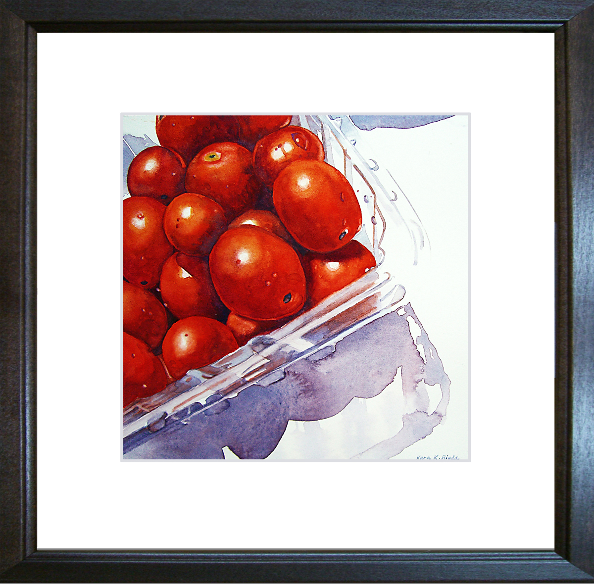 """Peel Me a Grape Tomato"" original fine art by Kara K. Bigda"