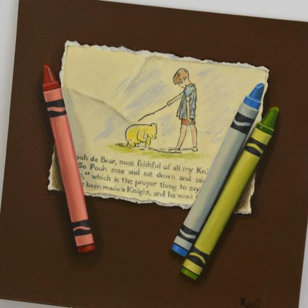 """Most Faithful Knight"" original fine art by Kim Testone"