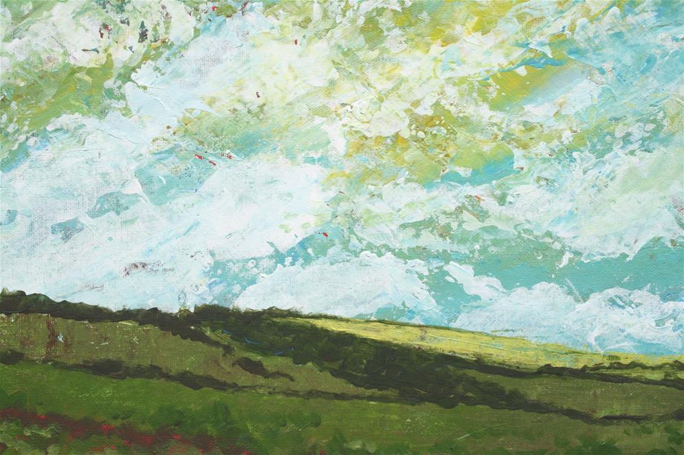 """""""Windswept Prairie"""" original fine art by Sage Mountain"""