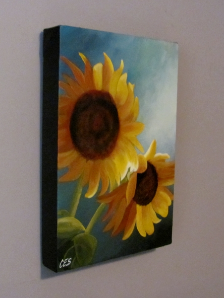 """Sunflowers"" original fine art by ~ces~ Christine E. S. Code"