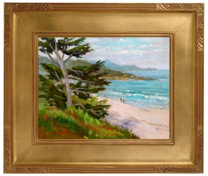 """""""Early Morning Walk"""" original fine art by Rhett Regina Owings"""