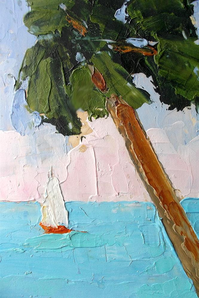 """Florida Beach Palms"" original fine art by lynne french"