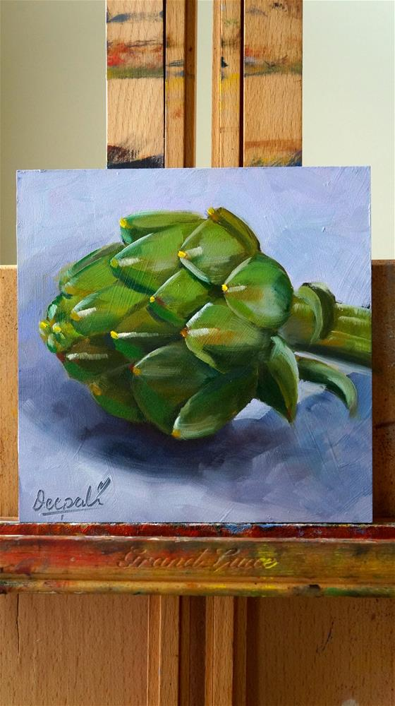 """Artichoke"" original fine art by Dipali Rabadiya"