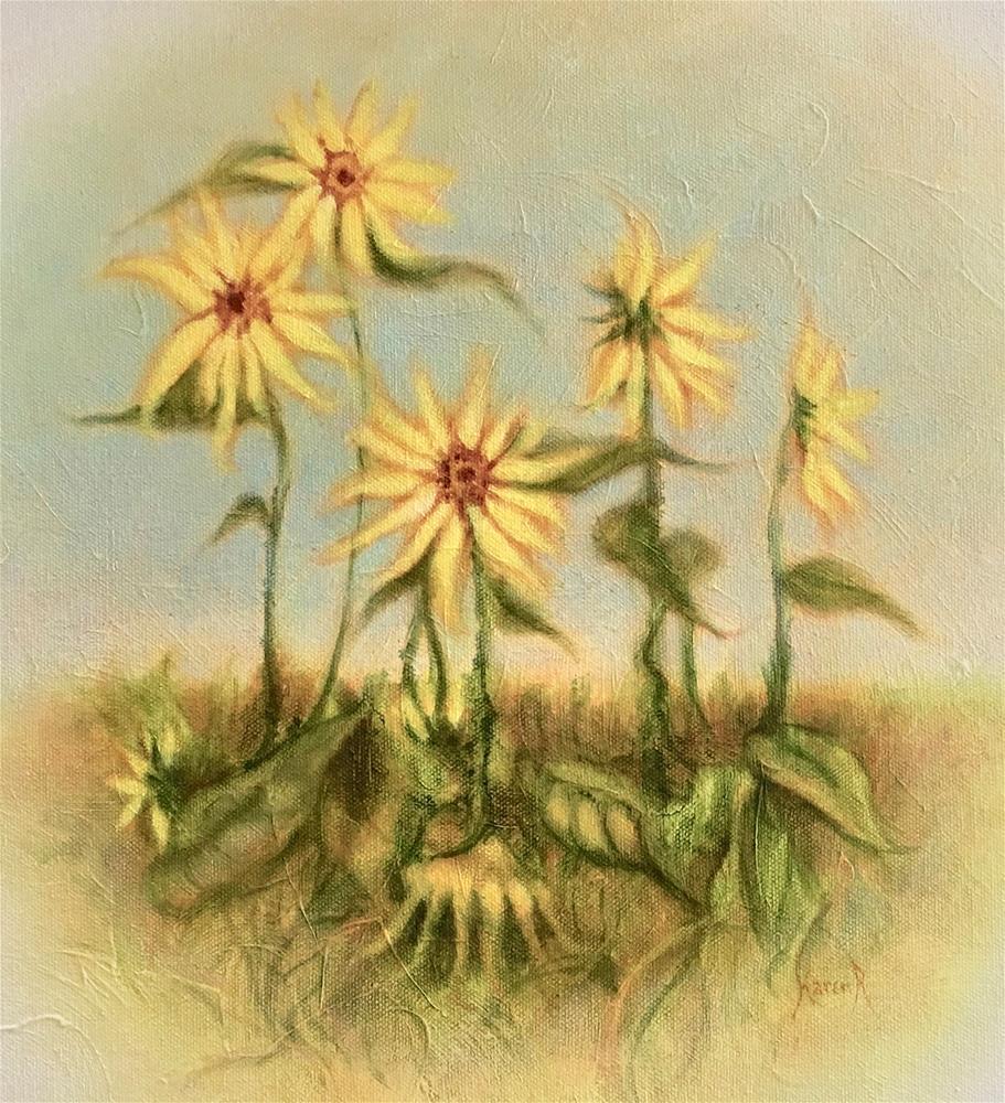 """Garden of Gold"" original fine art by Karen Roncari"