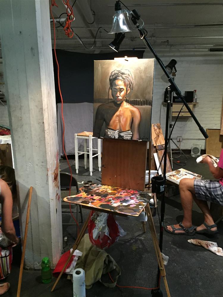 """""""Portrait of Britney"""" original fine art by Eduardo Posadas"""