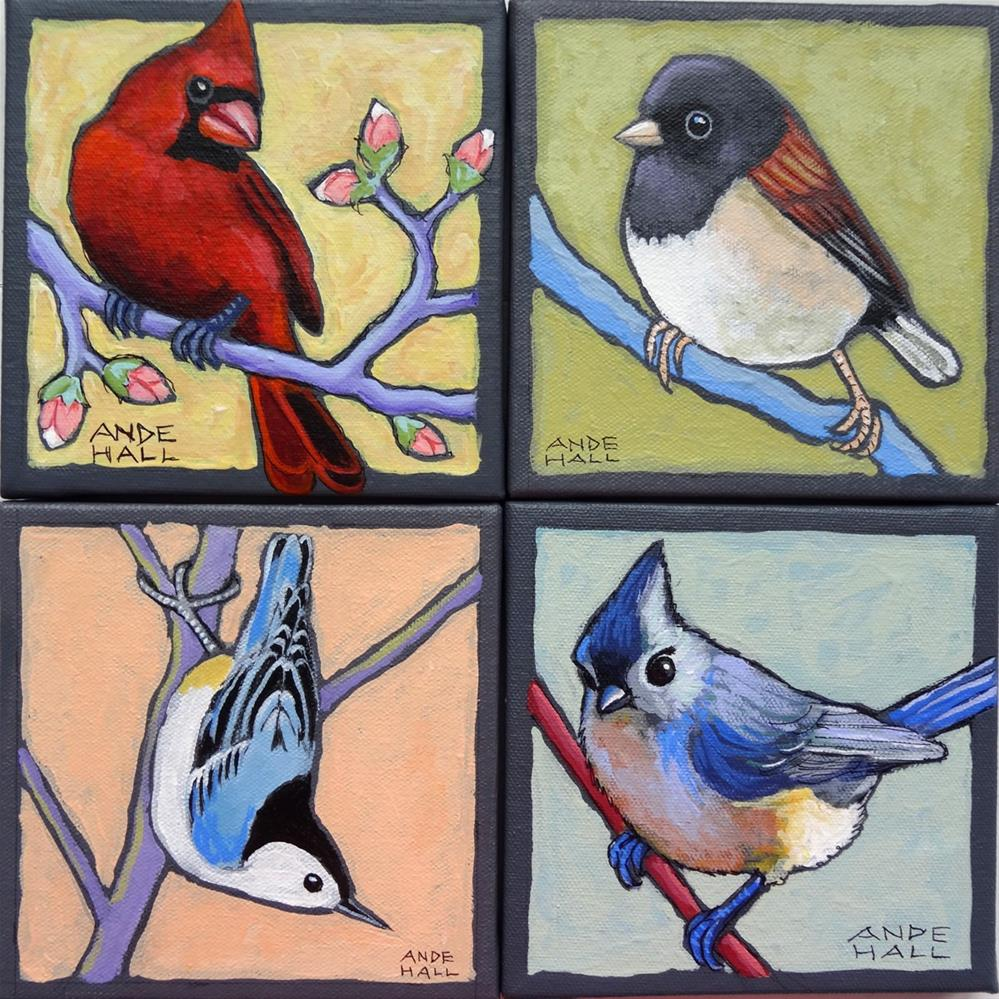 """Tufted Titmouse Two"" original fine art by Ande Hall"