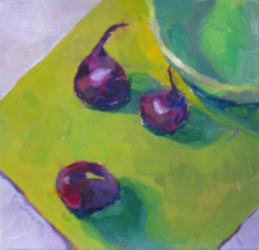 """Purple Onion Upstarts"" original fine art by Kathy Johnson"