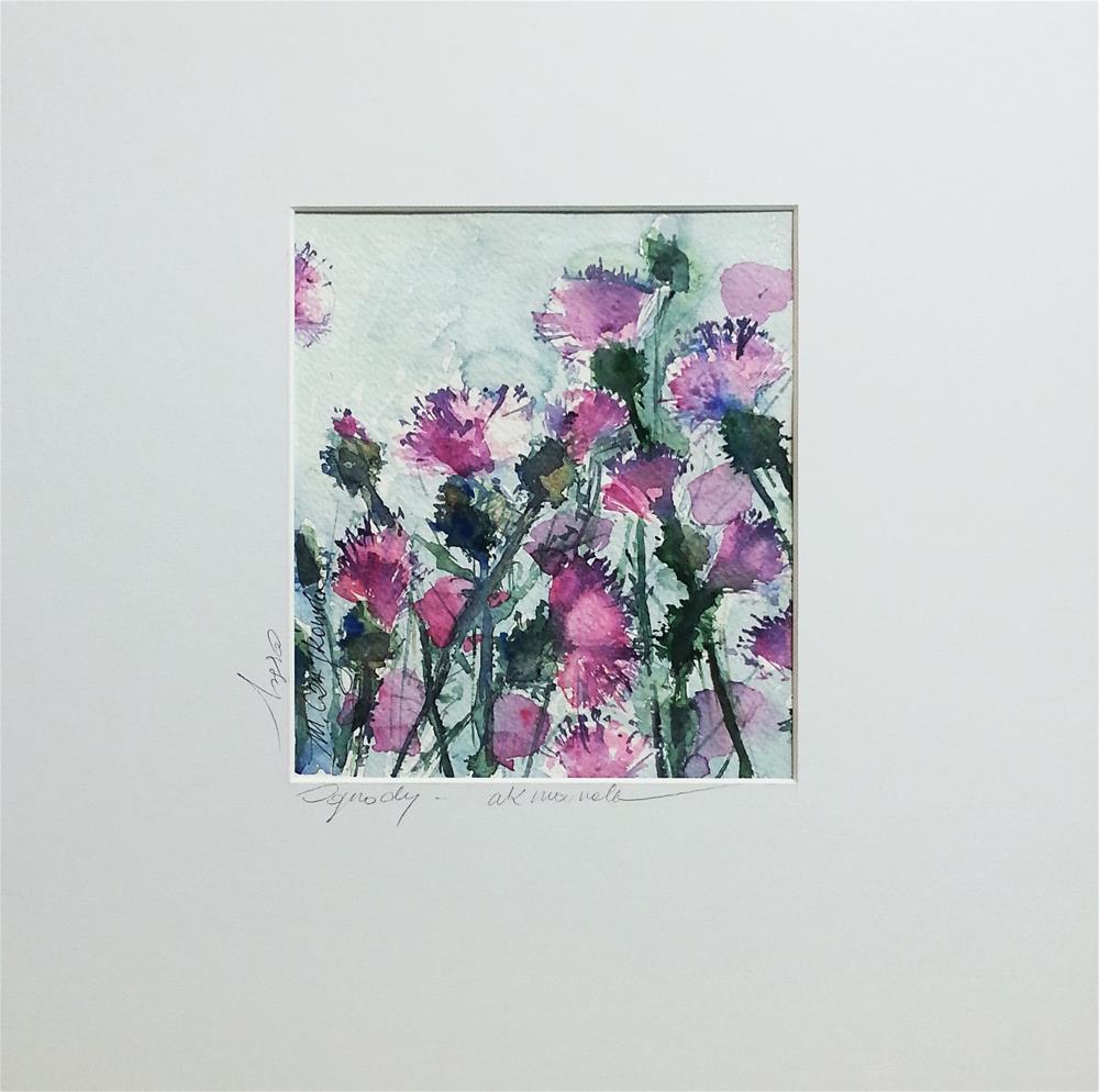 """Thistles 3"" original fine art by Marlena Czajkowska"