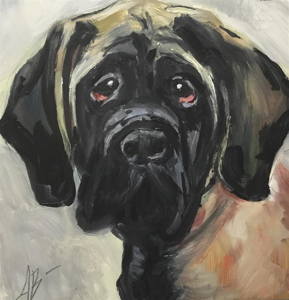 """Mastiff"" original fine art by Annette Balesteri"
