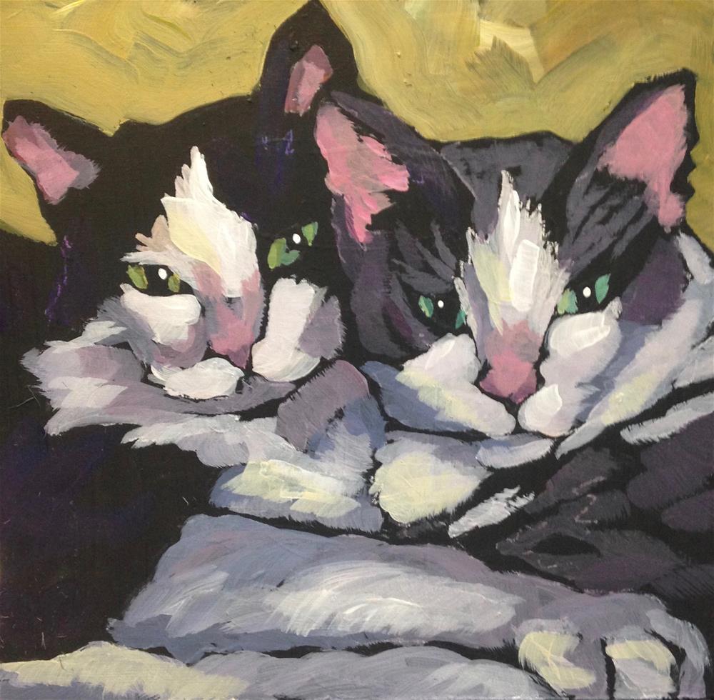 """March 19, George & Martha"" original fine art by Kat Corrigan"