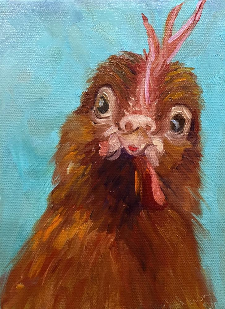"""Curious Bird"" original fine art by Judith Anderson"