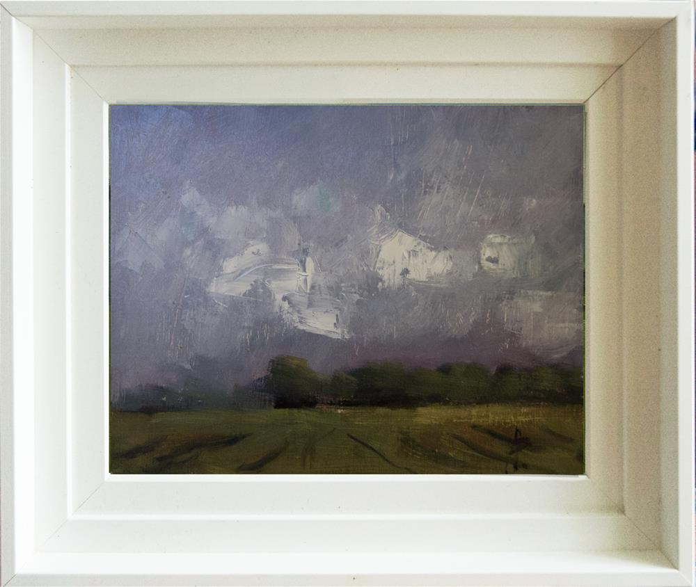 """Dark Sky, White Clouds"" original fine art by Andre Pallat"