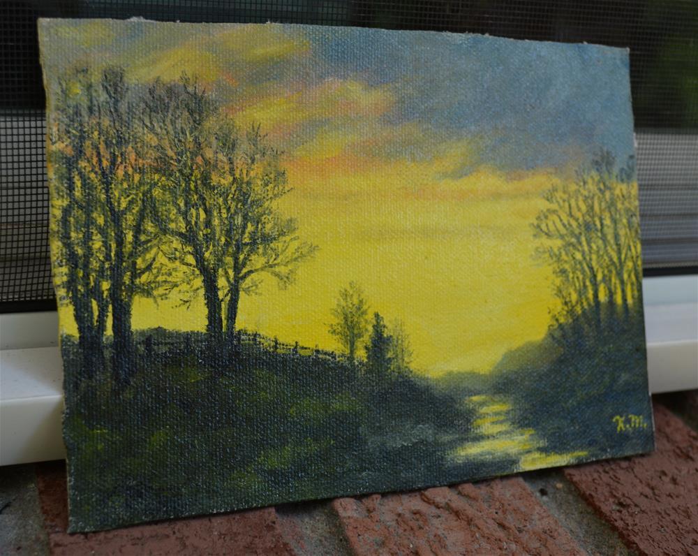 """""""Sundown Sky (C) 2014 by K. McDermott"""" original fine art by Kathleen McDermott"""