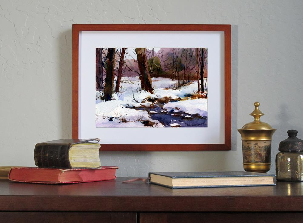 """Walking in a Winter Wonderland"" original fine art by Linda Henry"