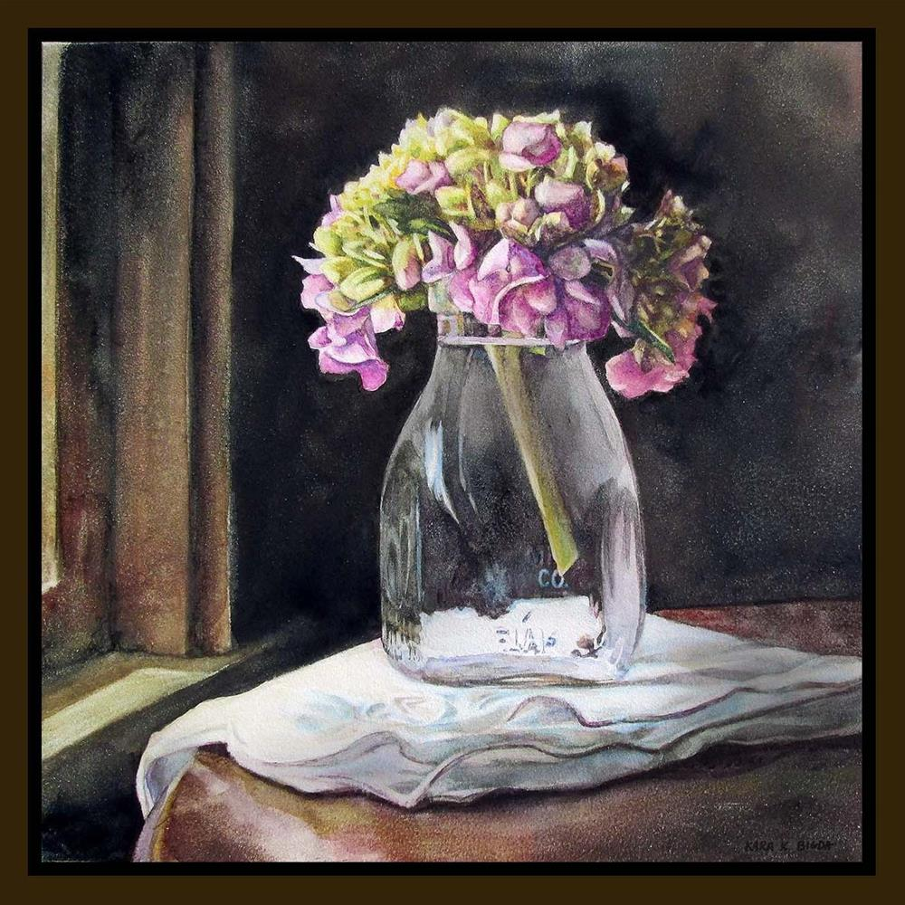 """Old Fashioned Hydrangea"" original fine art by Kara K. Bigda"