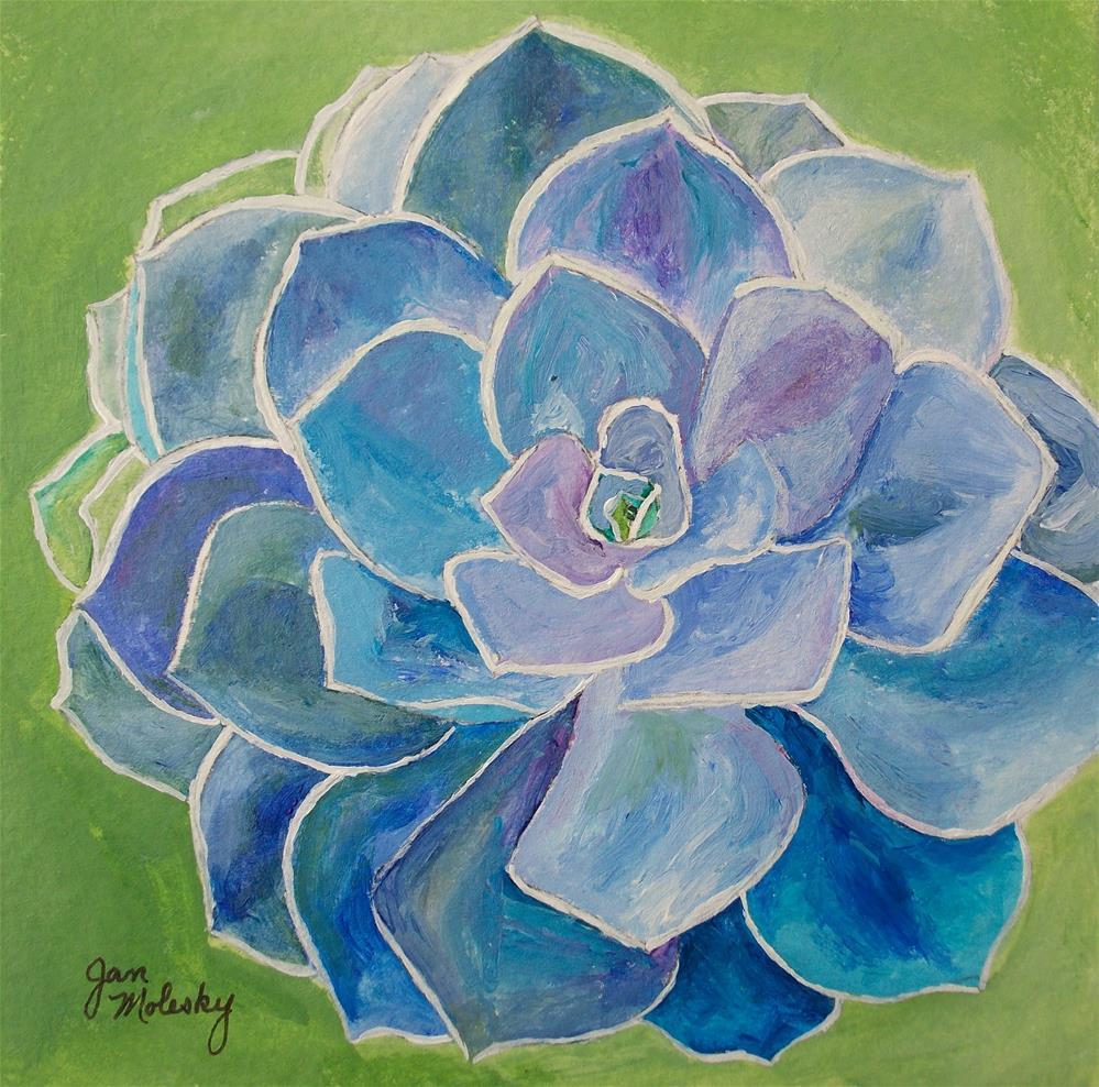 """Succulent Hue"" original fine art by Jan Molesky"