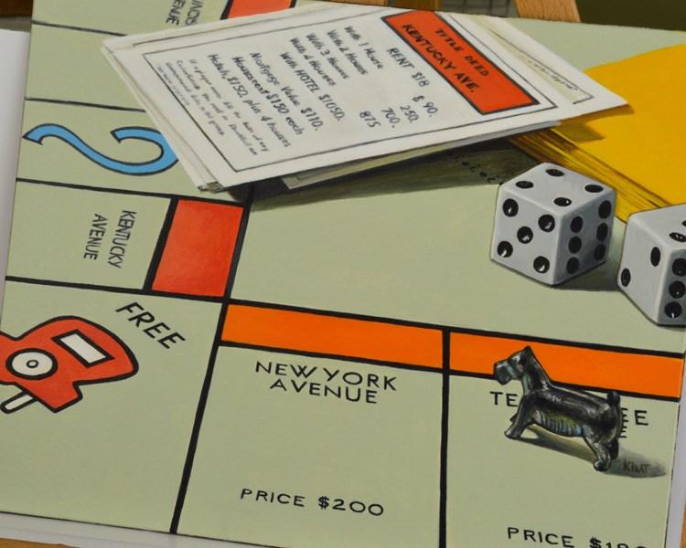 """Monopoly (Headed to Kentucky Ave.)"" original fine art by Kim Testone"