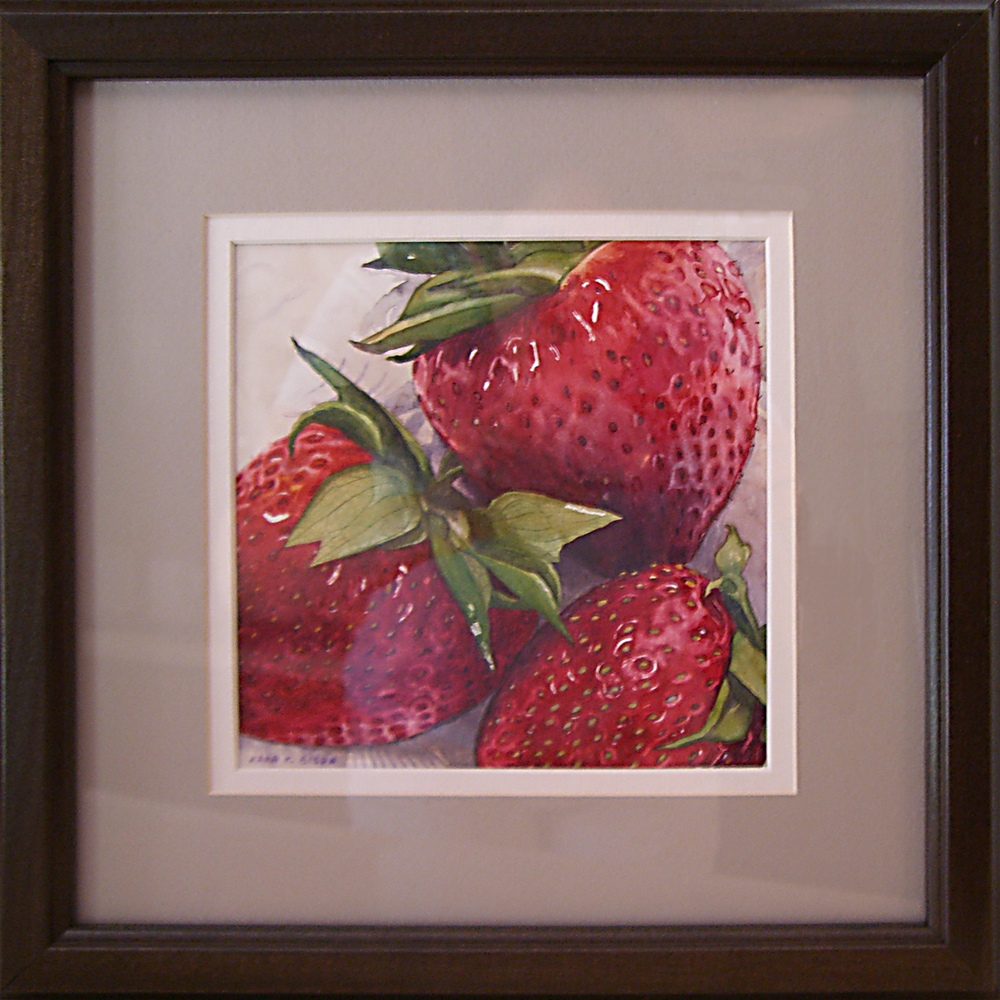 """Strawberries"" original fine art by Kara K. Bigda"