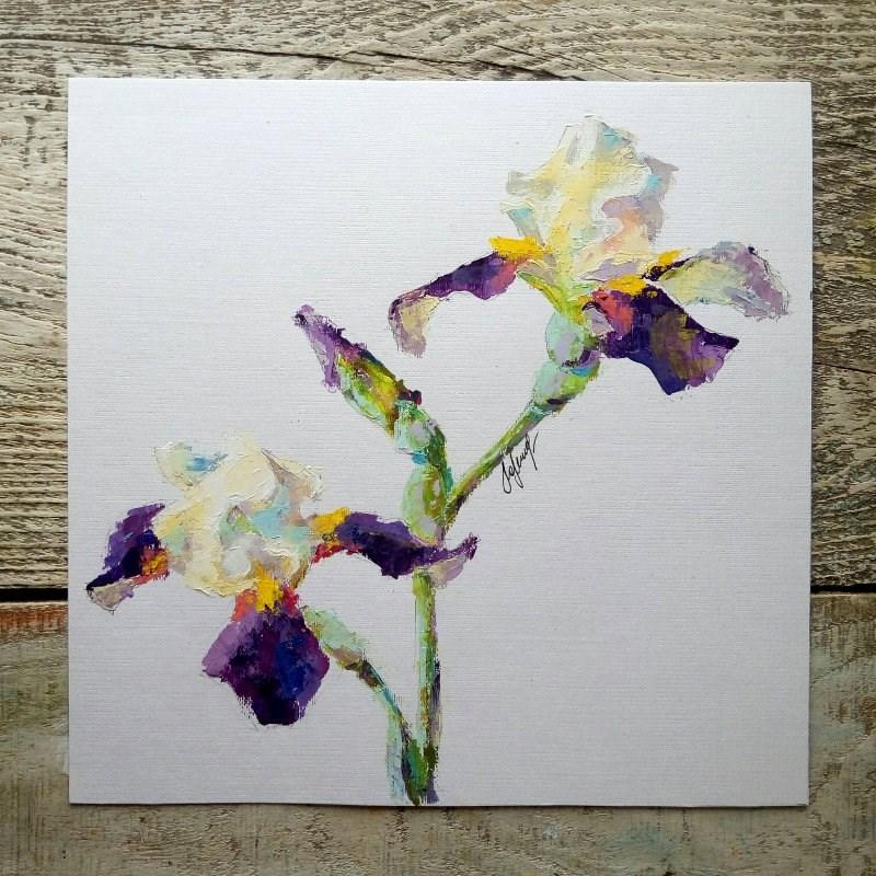 """""""Irises"""" original fine art by Valerie Lazareva"""