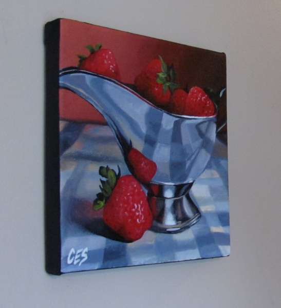 """Strawberry Overboard"" original fine art by ~ces~ Christine E. S. Code"
