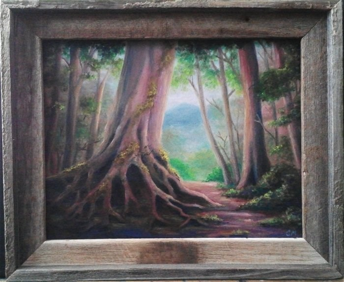 """Forest"" original fine art by Camille Morgan"