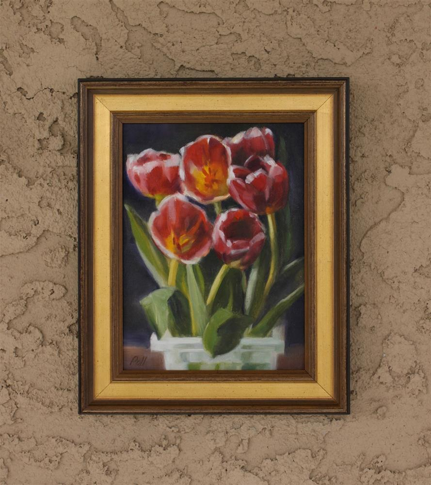 """Tulip Time (framed)"" original fine art by Pamela Poll"